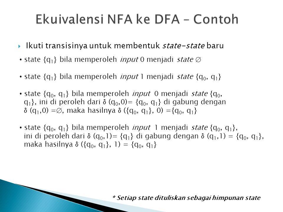 Ekuivalensi NFA ke DFA – Contoh