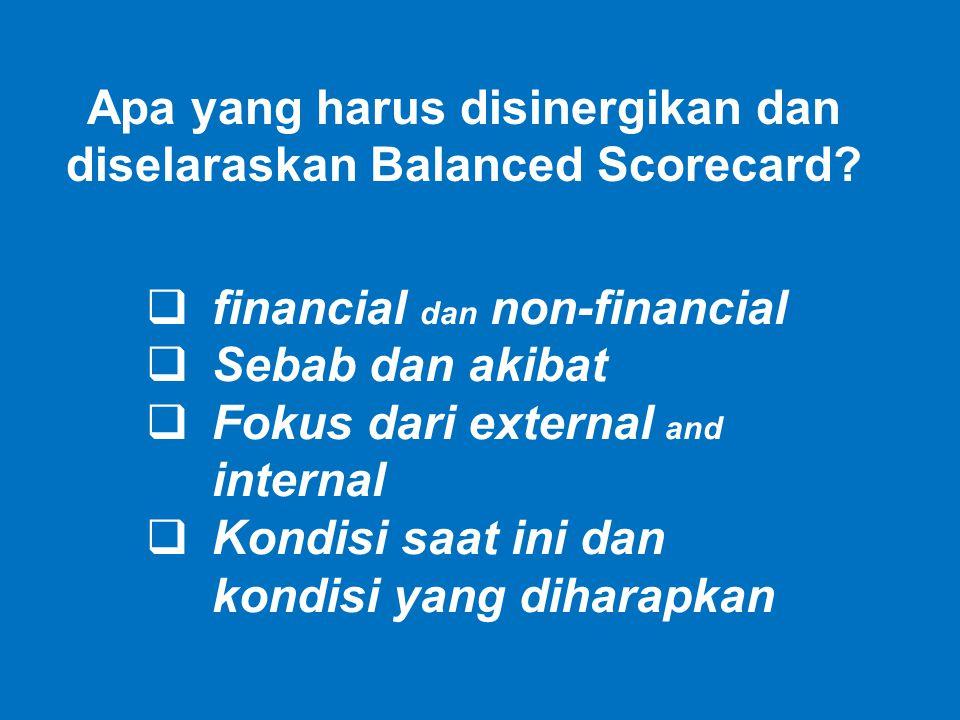 Apa yang harus disinergikan dan diselaraskan Balanced Scorecard