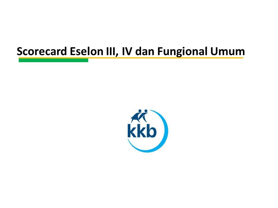 Scorecard Eselon III, IV dan Fungional Umum