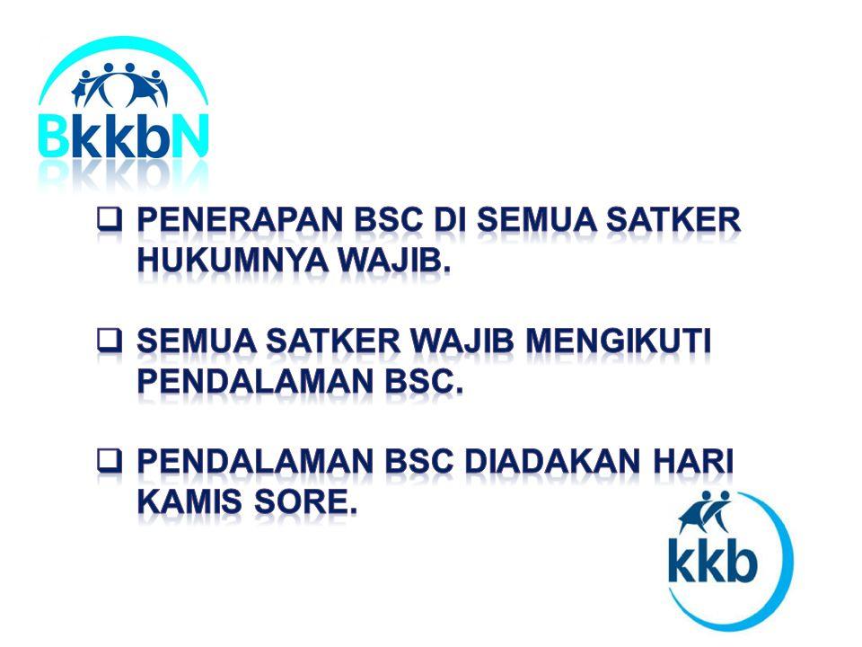 Penerapan BSC di Semua Satker hukumnya wajib.