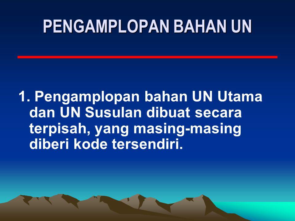 PENGAMPLOPAN BAHAN UN 1.