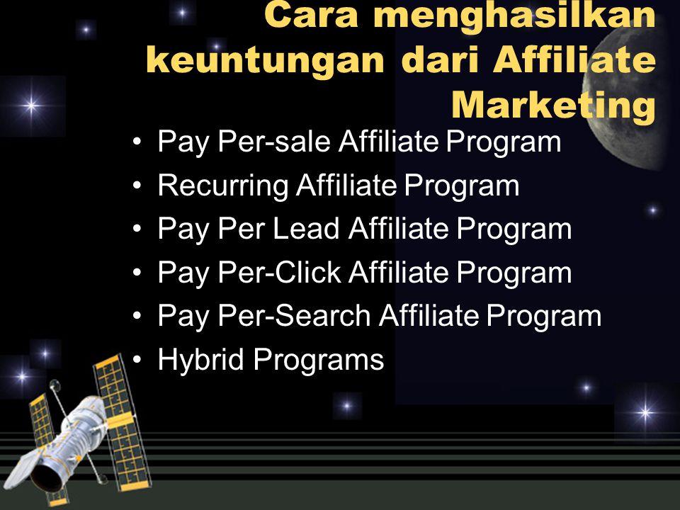 Cara menghasilkan keuntungan dari Affiliate Marketing