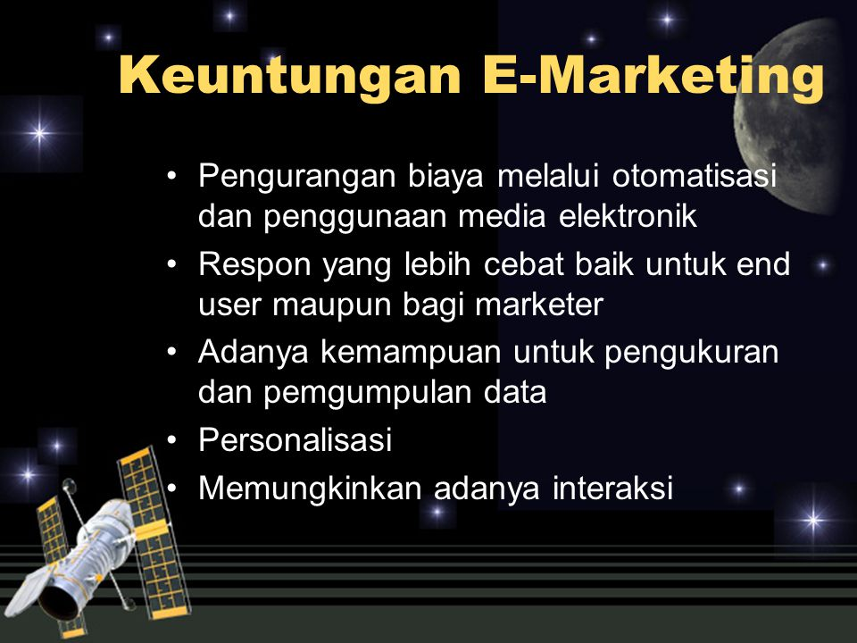Keuntungan E-Marketing