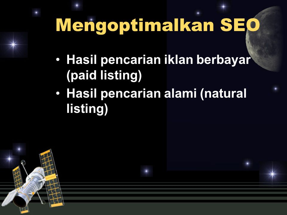 Mengoptimalkan SEO Hasil pencarian iklan berbayar (paid listing)