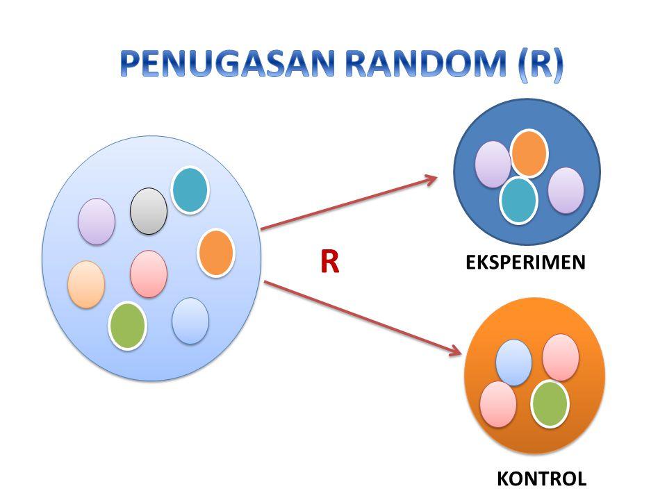 PENUGASAN RANDOM (R) R EKSPERIMEN KONTROL