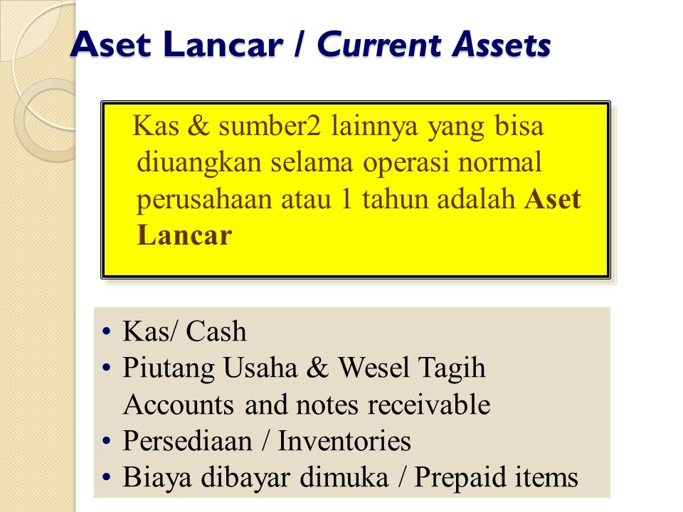 Aset Lancar / Current Assets