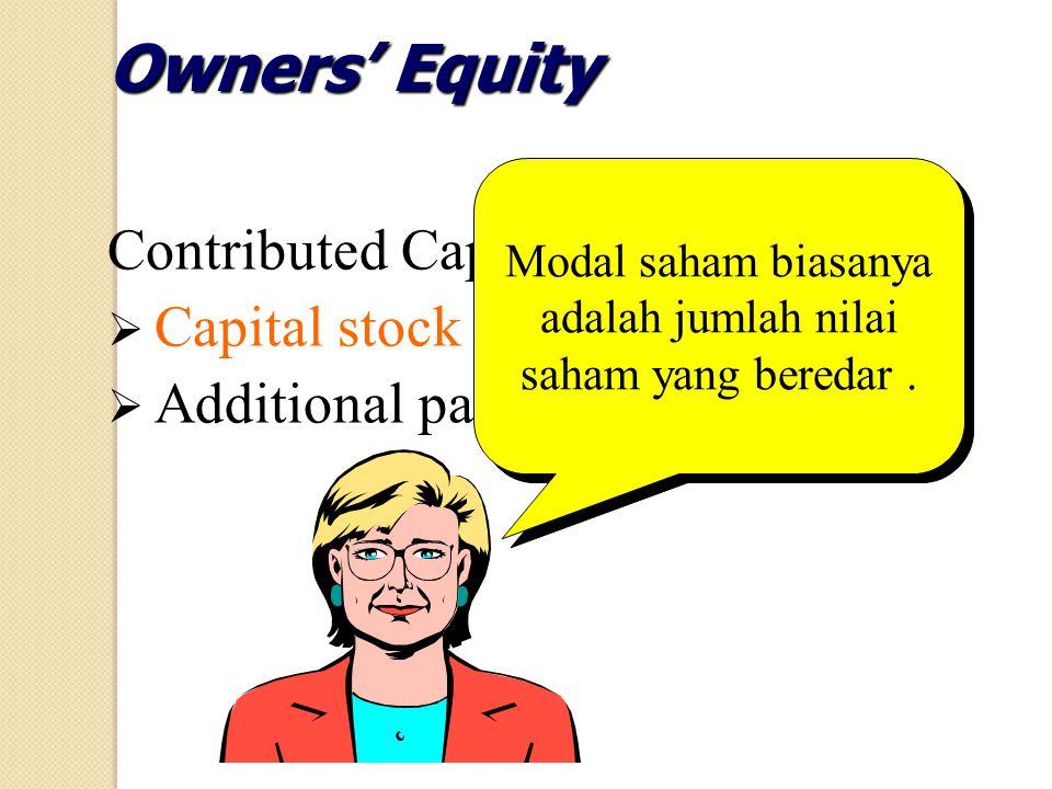 Modal saham biasanya adalah jumlah nilai saham yang beredar .