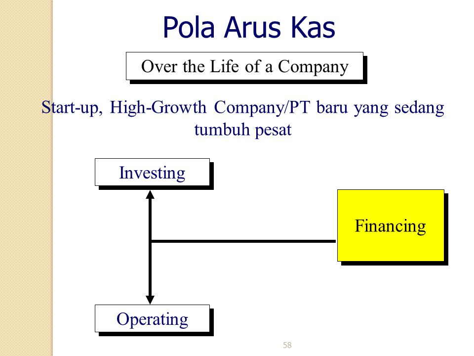 Pola Arus Kas Over the Life of a Company