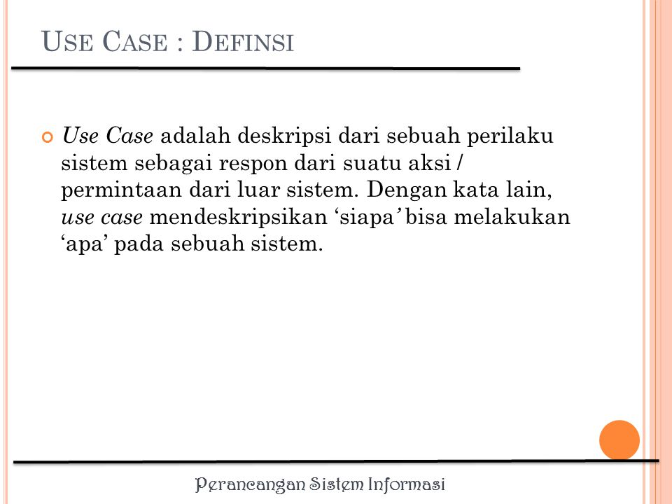 Use Case : Definsi