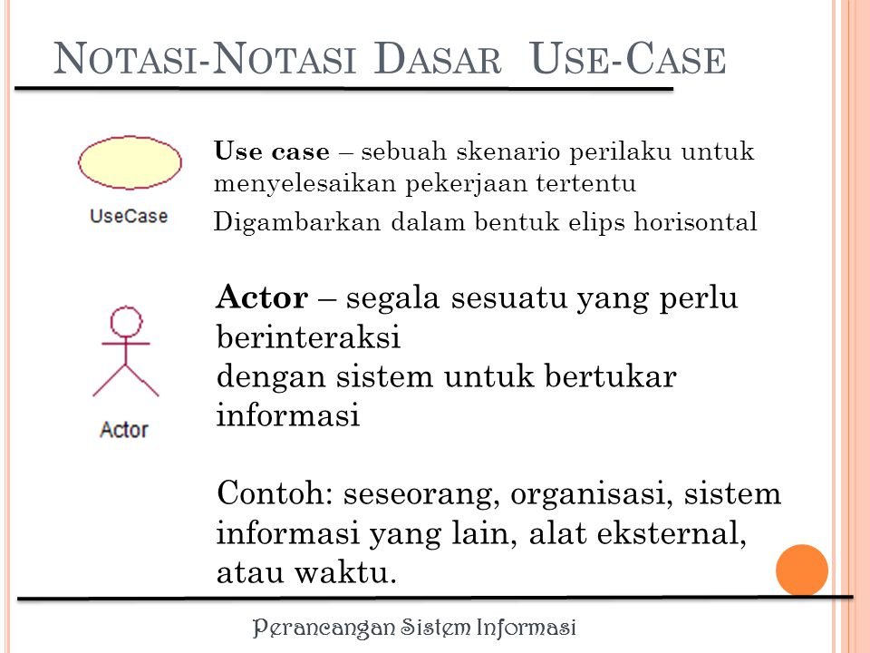 Notasi-Notasi Dasar Use-Case