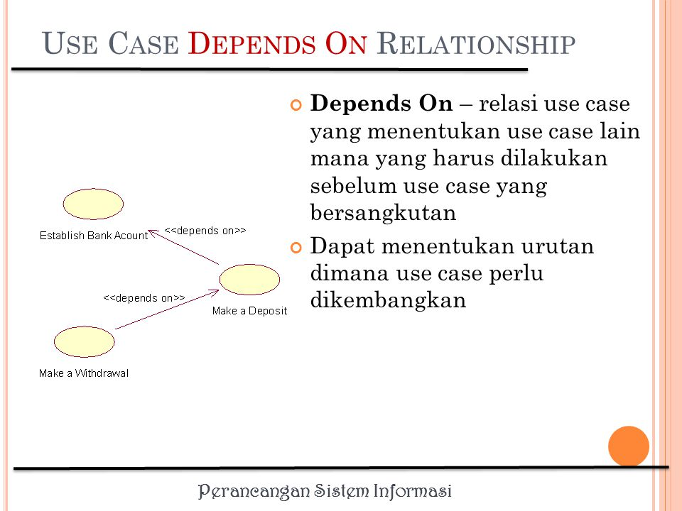 Use Case Depends On Relationship