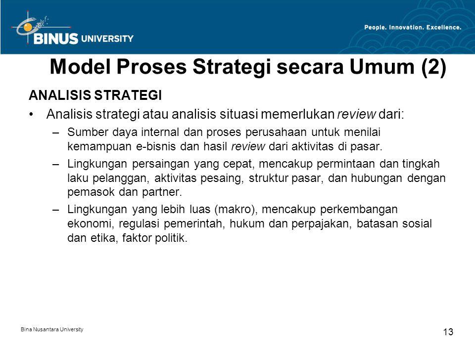 Model Proses Strategi secara Umum (2)
