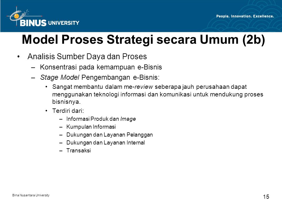 Model Proses Strategi secara Umum (2b)