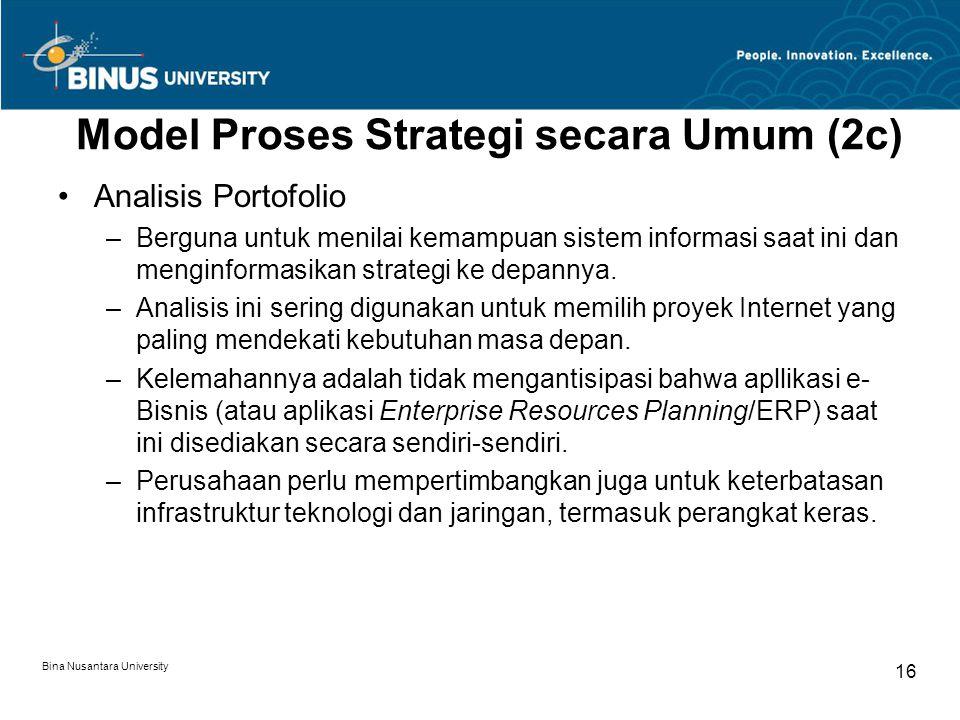 Model Proses Strategi secara Umum (2c)