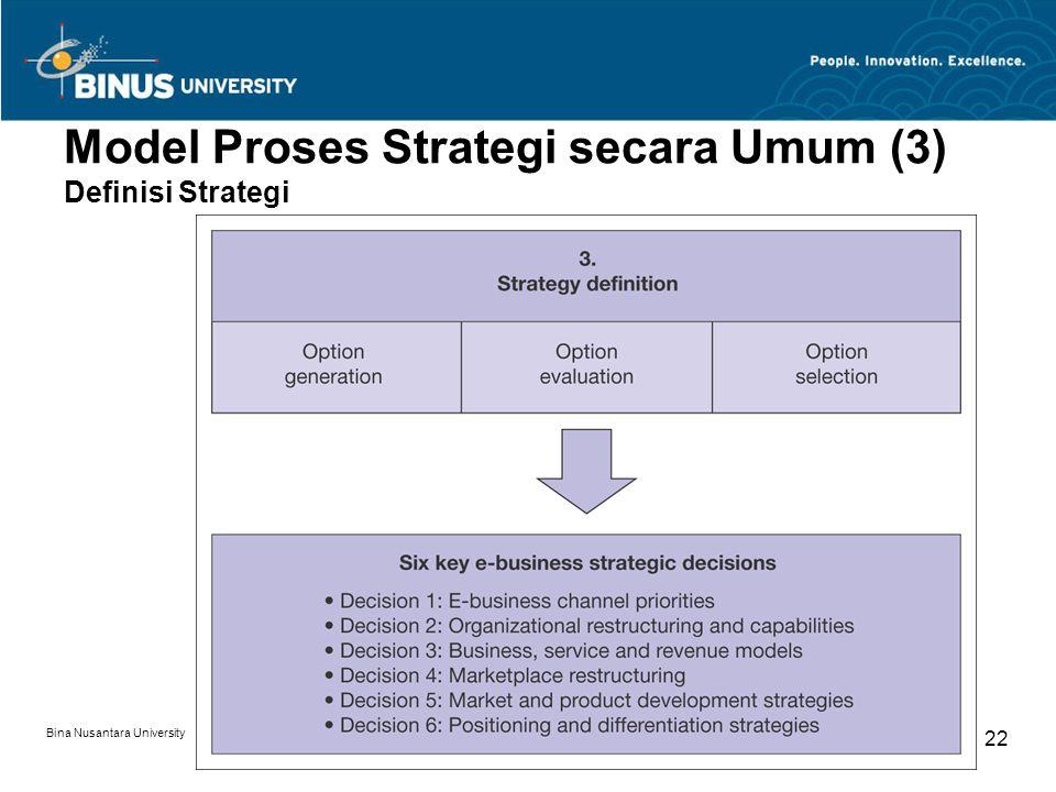 Model Proses Strategi secara Umum (3) Definisi Strategi