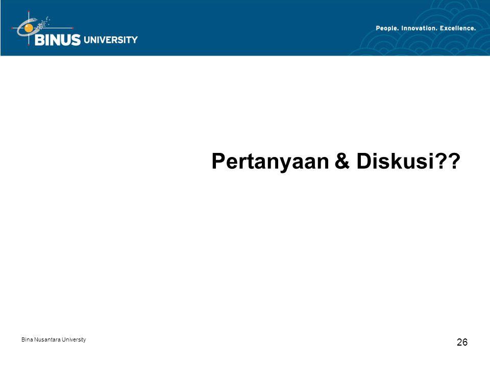 Pertanyaan & Diskusi Bina Nusantara University