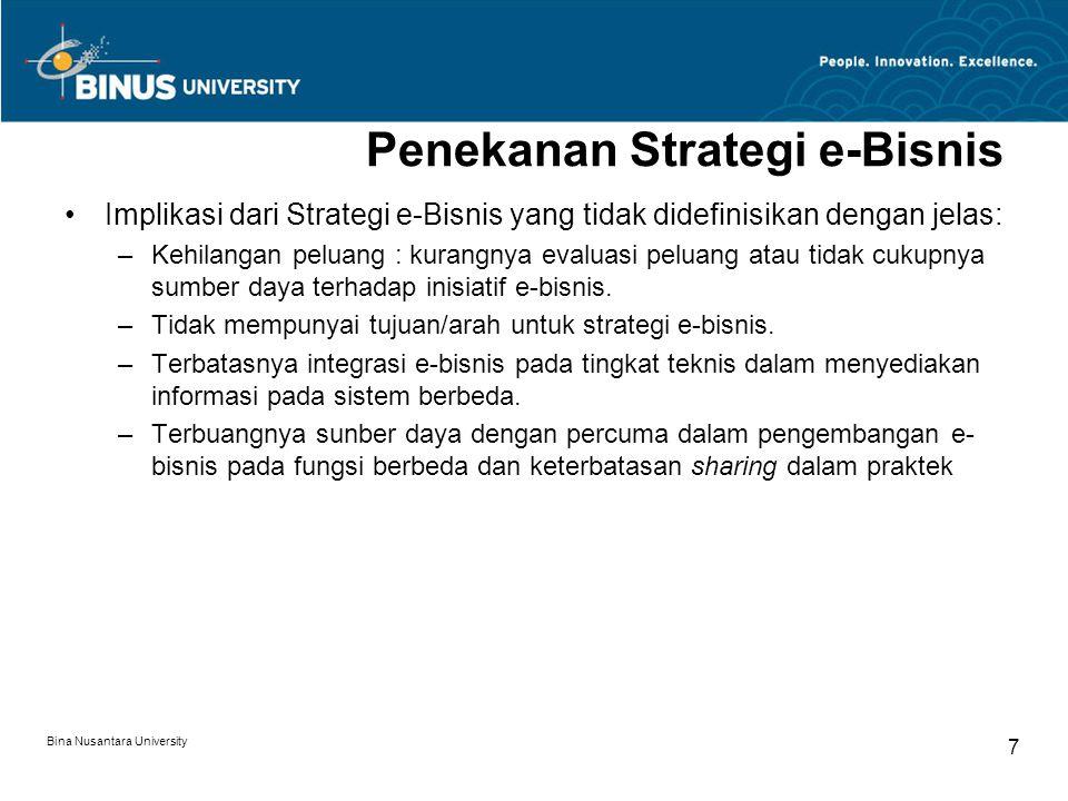 Penekanan Strategi e-Bisnis