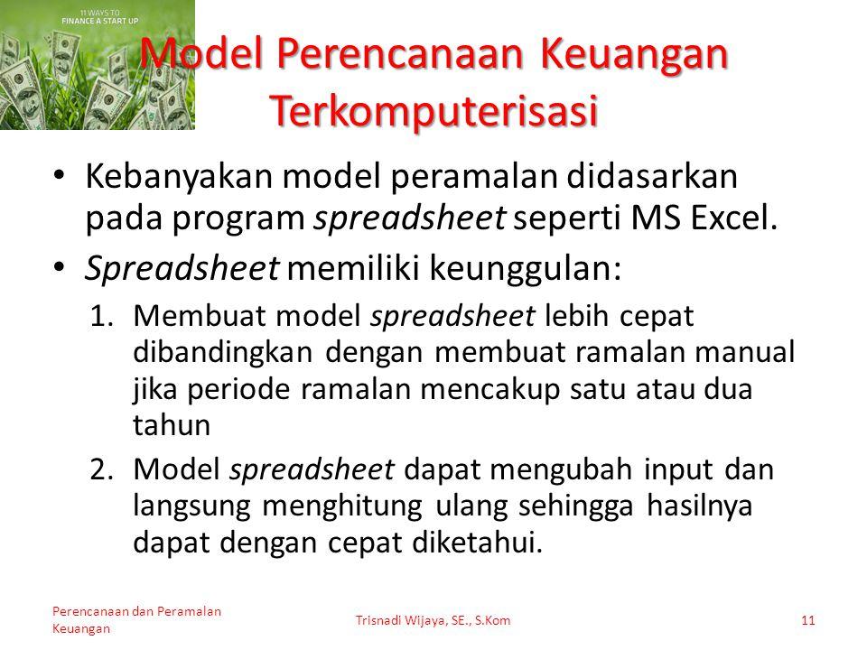 Model Perencanaan Keuangan Terkomputerisasi