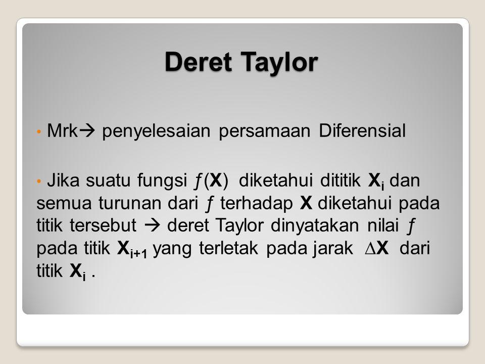Deret Taylor Mrk penyelesaian persamaan Diferensial