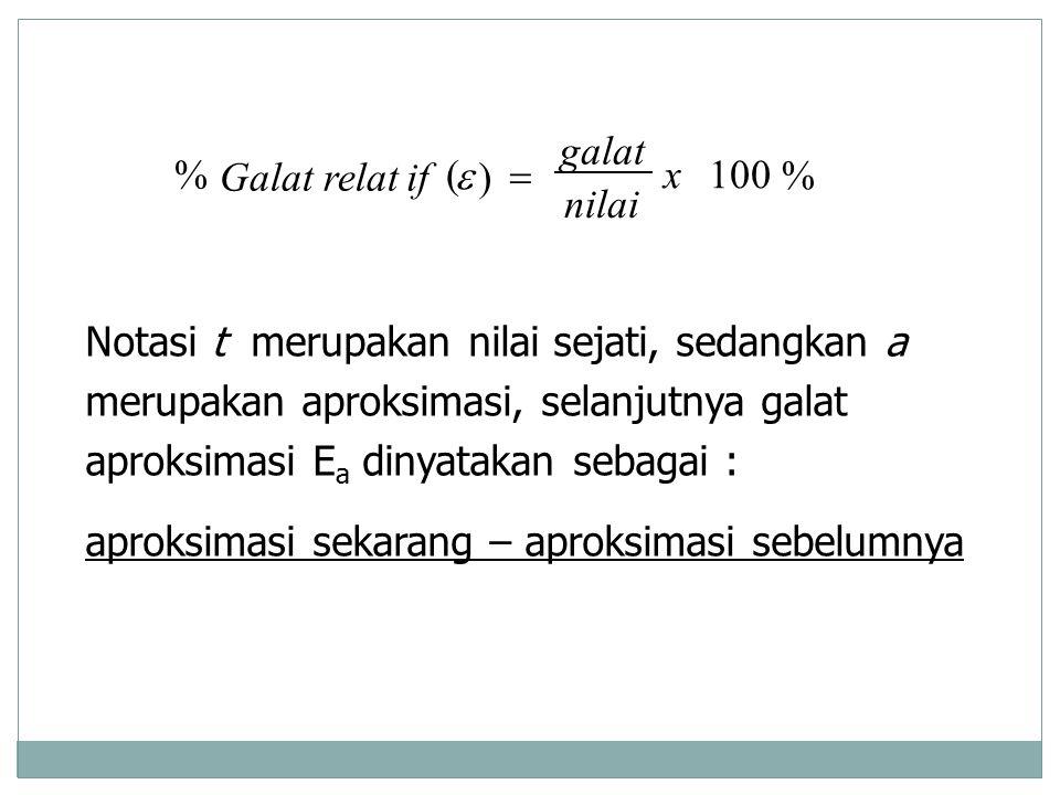 % 100. ) ( x. nilai. galat. if. Galat relat. = e.