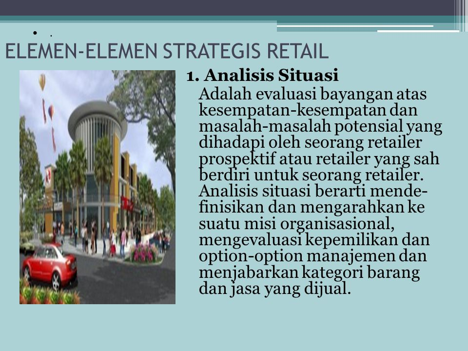 ELEMEN-ELEMEN STRATEGIS RETAIL
