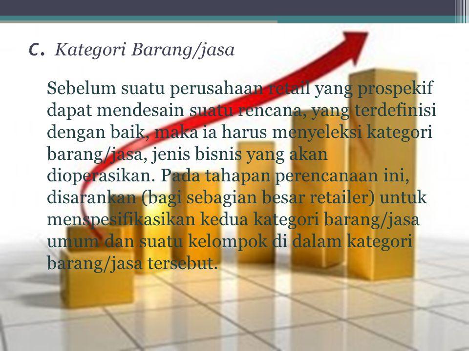 c. Kategori Barang/jasa