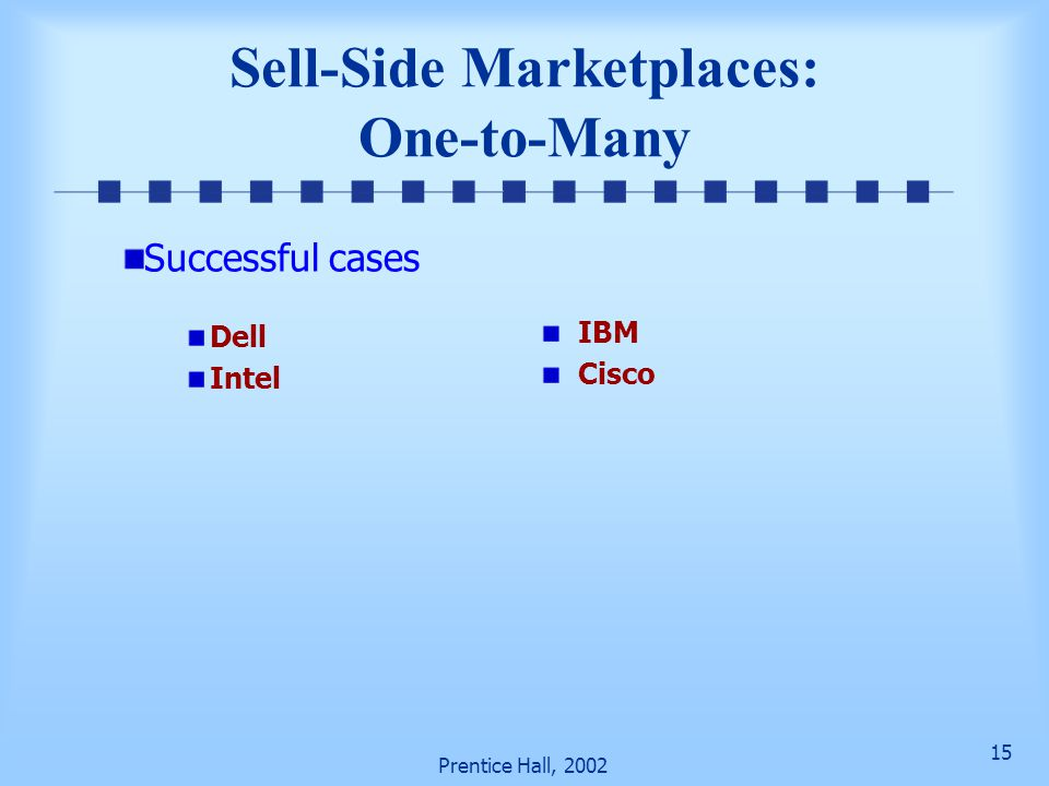 Sell-Side Marketplaces: One-to-Many