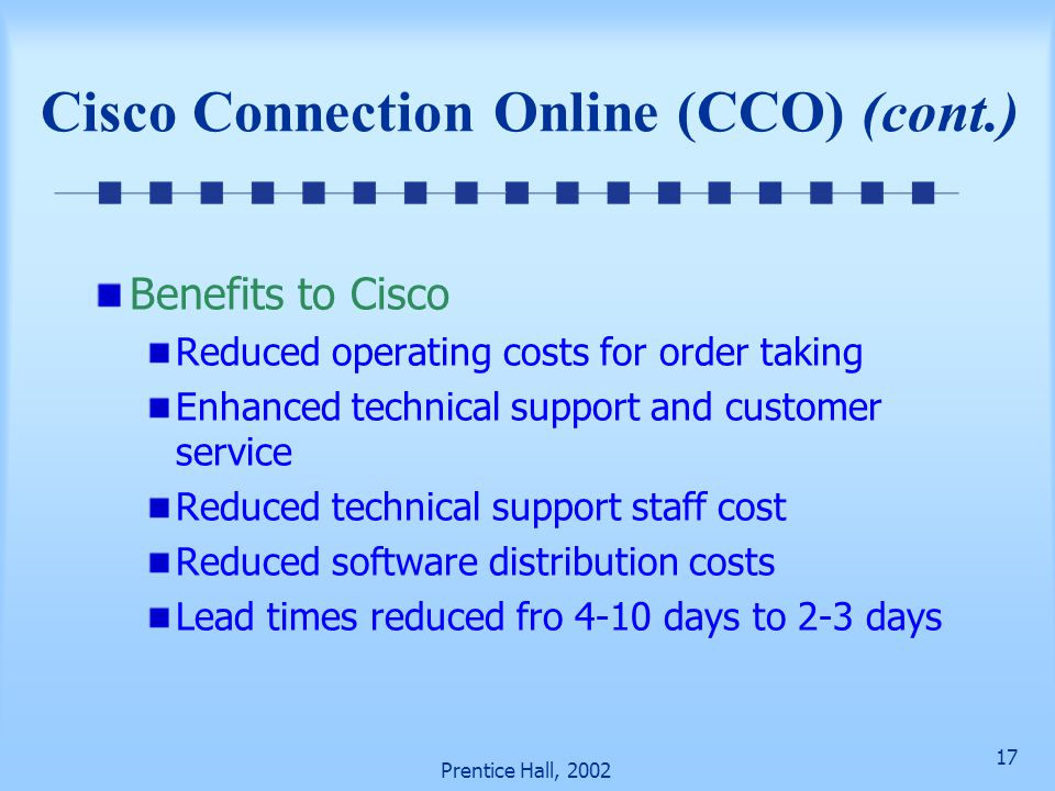 Cisco Connection Online (CCO) (cont.)