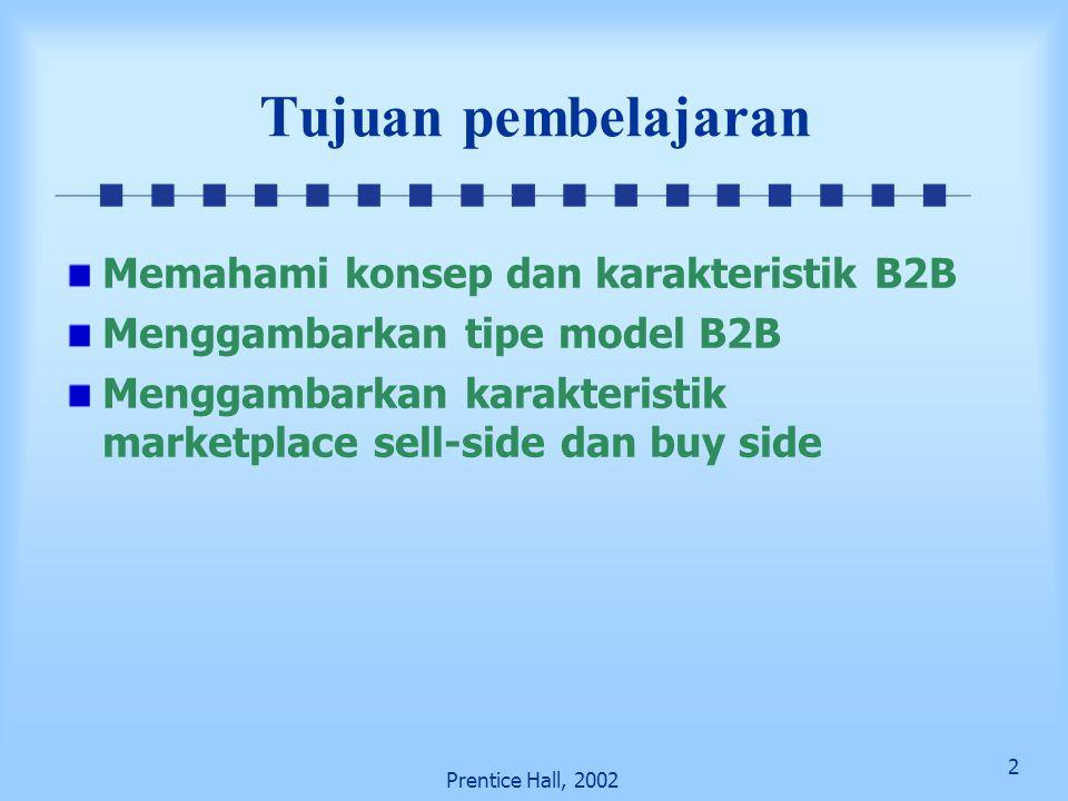 Tujuan pembelajaran Memahami konsep dan karakteristik B2B