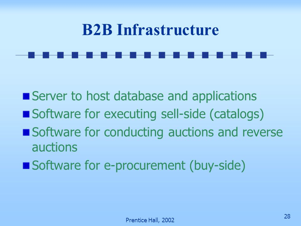 B2B Infrastructure Server to host database and applications