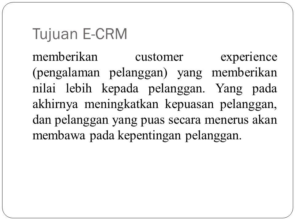 Tujuan E-CRM
