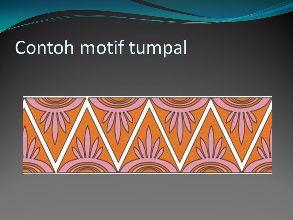 Contoh motif tumpal