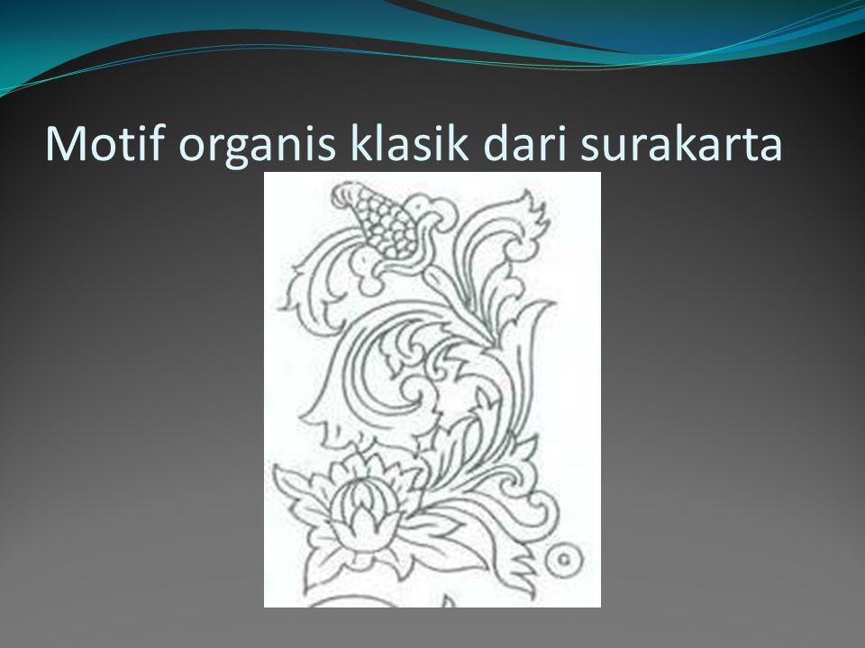 Motif organis klasik dari surakarta