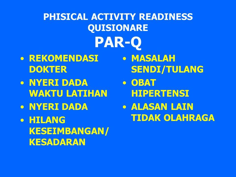 PHISICAL ACTIVITY READINESS QUISIONARE PAR-Q