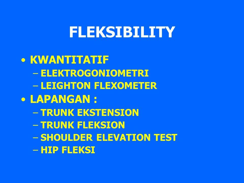FLEKSIBILITY KWANTITATIF LAPANGAN : ELEKTROGONIOMETRI