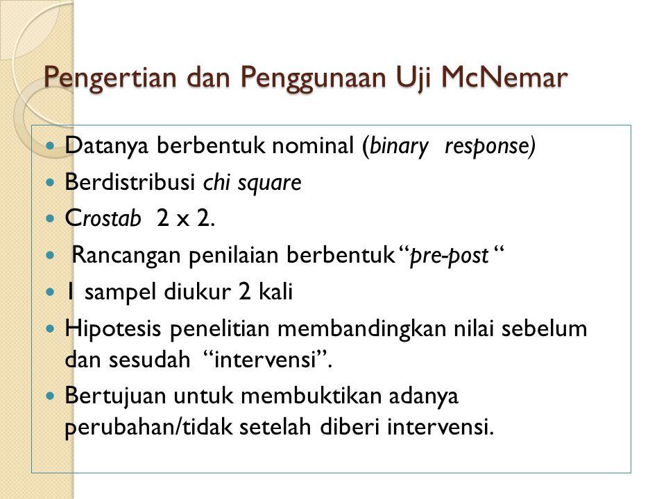 Pengertian dan Penggunaan Uji McNemar