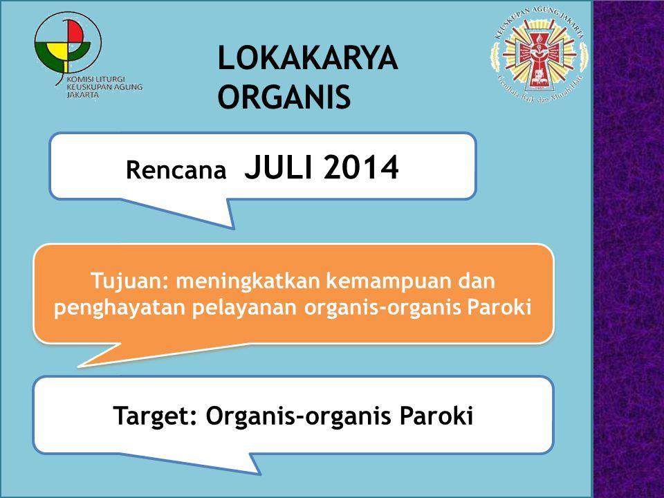 Target: Organis-organis Paroki