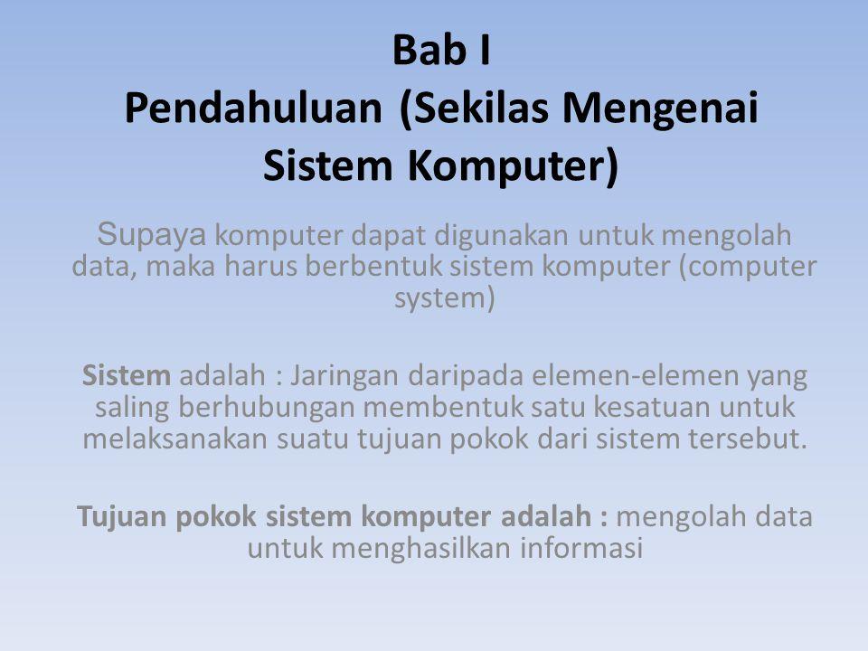 Bab I Pendahuluan (Sekilas Mengenai Sistem Komputer)