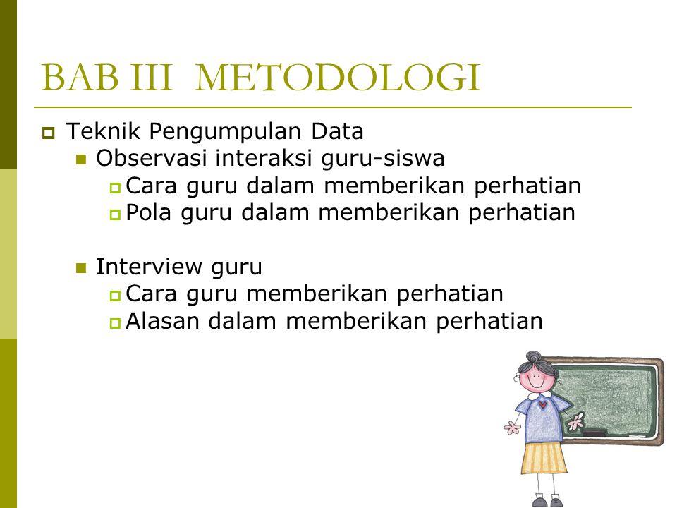 BAB III METODOLOGI Teknik Pengumpulan Data