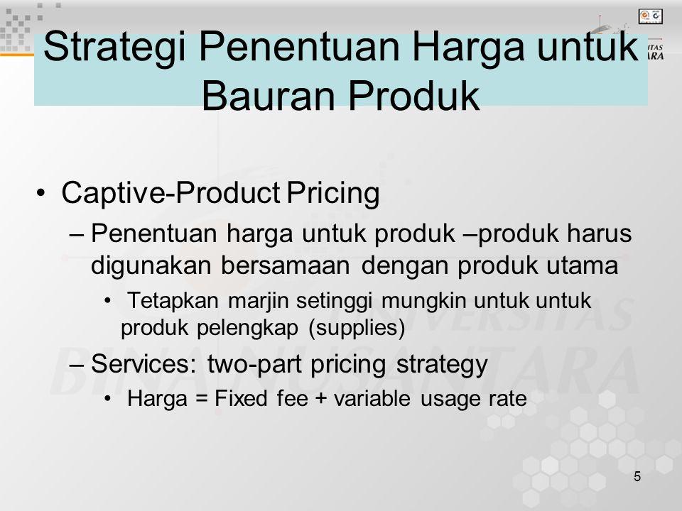 Strategi Penentuan Harga untuk Bauran Produk