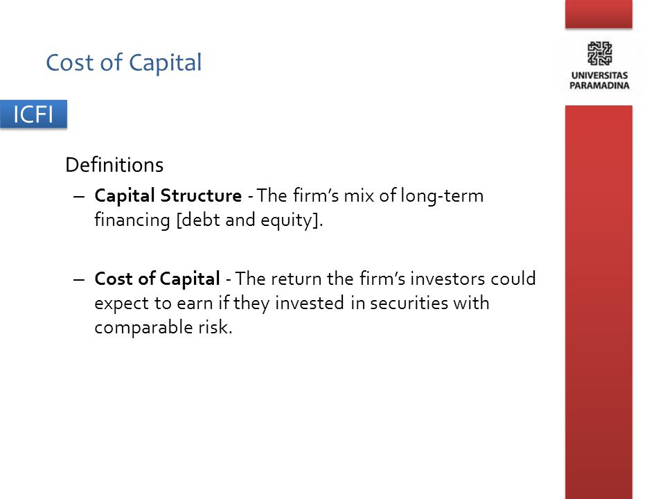 Cost of Capital Definitions