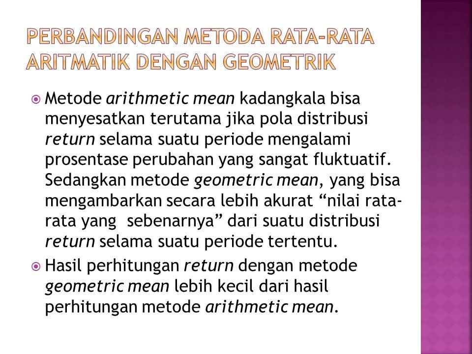 PERBANDINGAN METODA RATA-RATA ARITMATIK DENGAN GEOMETRIK