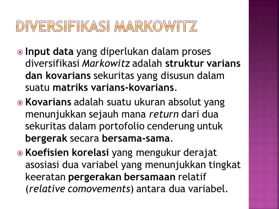 DIVERSIFIKASI MARKOWITZ