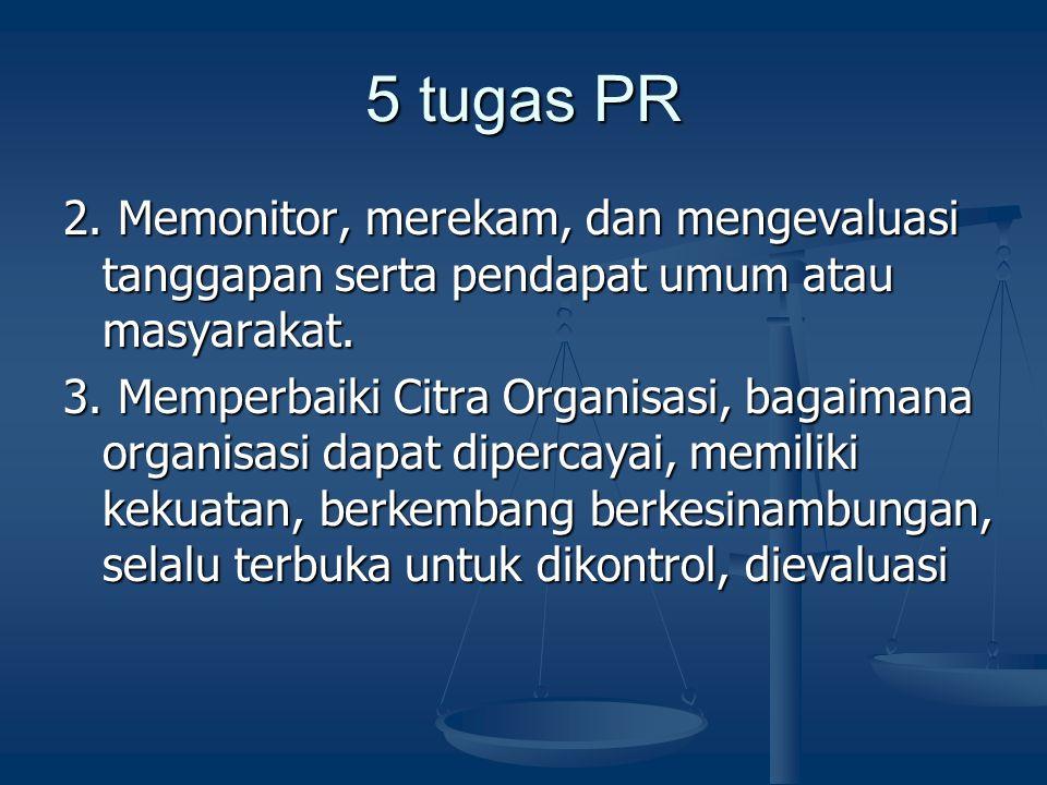 5 tugas PR 2. Memonitor, merekam, dan mengevaluasi tanggapan serta pendapat umum atau masyarakat.