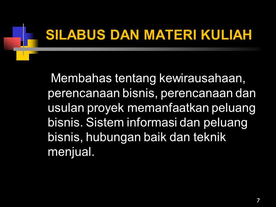 SILABUS DAN MATERI KULIAH