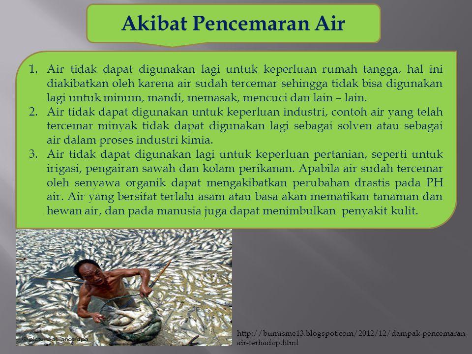 Akibat Pencemaran Air