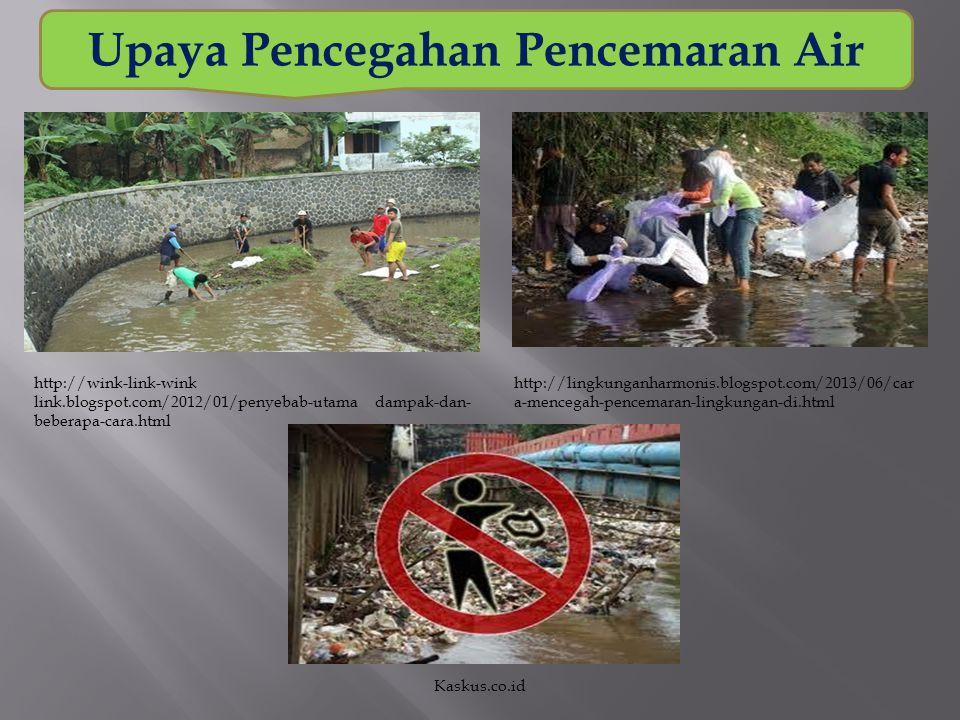 Upaya Pencegahan Pencemaran Air