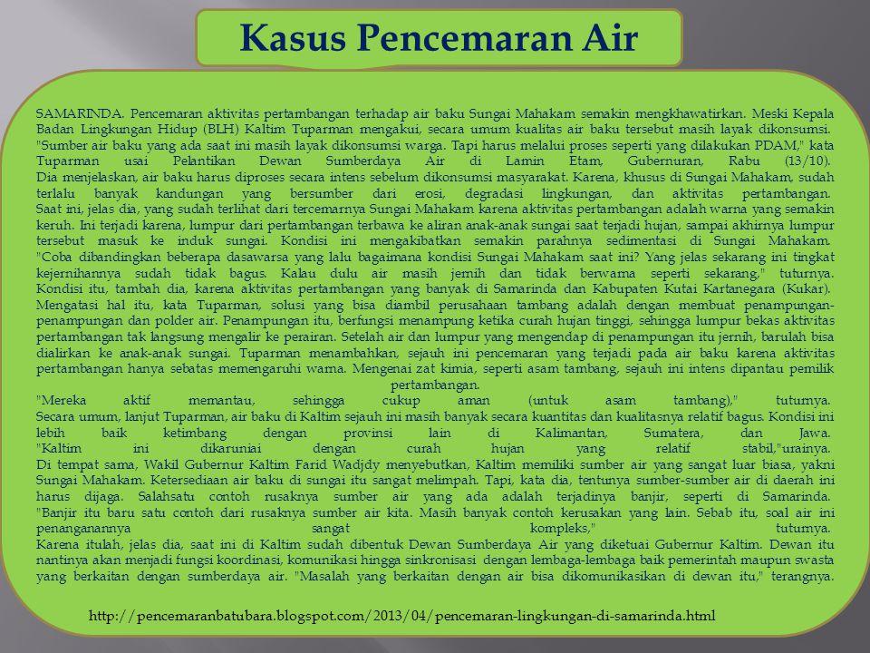 Kasus Pencemaran Air