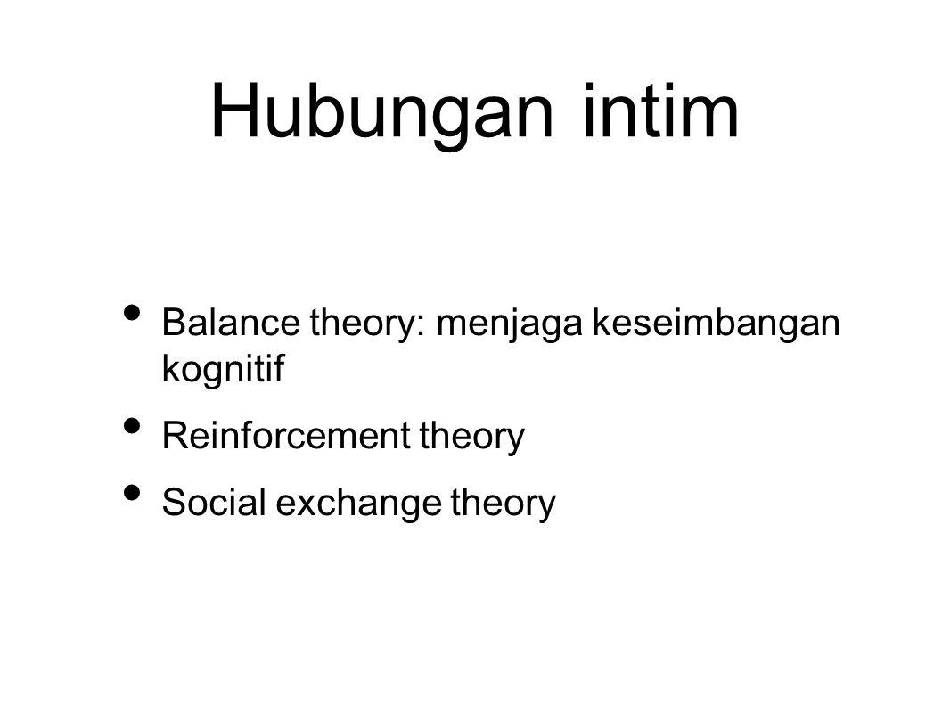 Hubungan intim Balance theory: menjaga keseimbangan kognitif