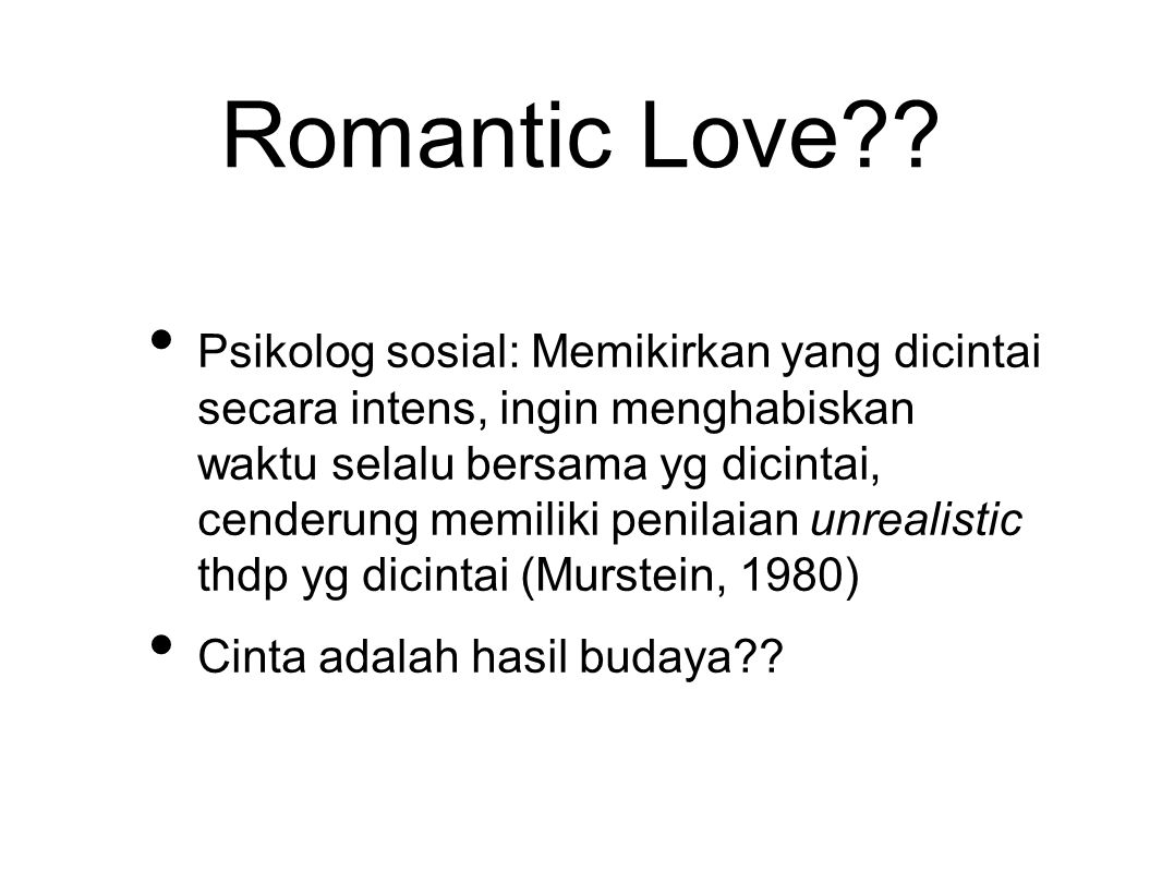 Romantic Love